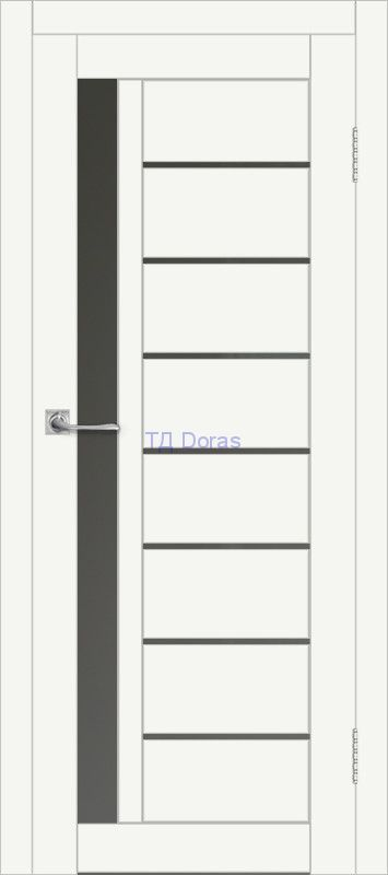 Межкомнатная дверь ДП DIM I-2 Crystal Matt Сатинато Графит