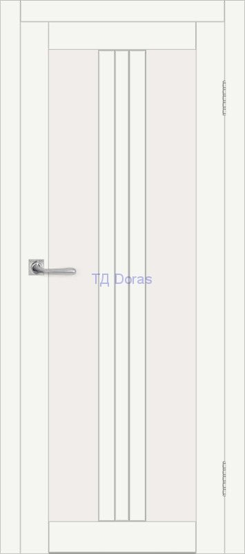 Межкомнатная дверь ДП DIM I-6 Crystal Matt Сатинато Белый