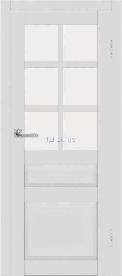 Межкомнатная дверь ДП DIM I-12 Smoky Matt Сатинато Белый