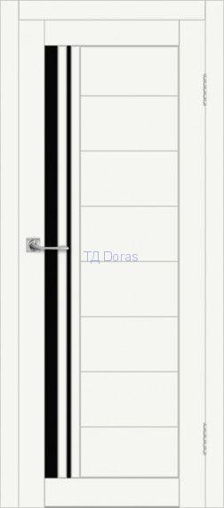 Межкомнатная дверь ДП DIM I-19 Crystal Matt Lacobel Black