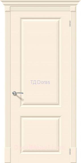 Межкомнатная окрашенная дверь эмаль Скинни-12 Cream