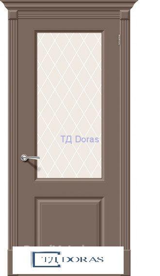 Межкомнатная окрашенная дверь эмаль Скинни-13 Mocca