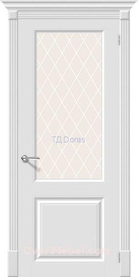 Межкомнатная окрашенная дверь Скинни-13 Whitey