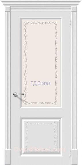 Межкомнатная окрашенная дверь эмаль Скинни-13 Аrt Whitey