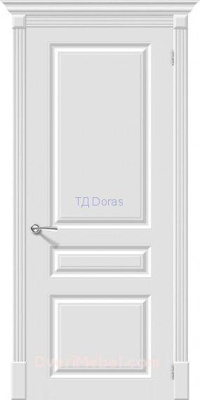 Межкомнатная окрашенная дверь эмаль Скинни-14 Whitey