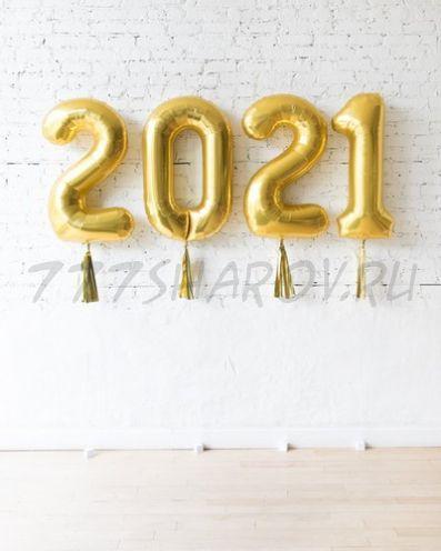 НАБОР ШАРОВ ЦИФР 2021 /102 СМ  С ГЕЛИЕМ