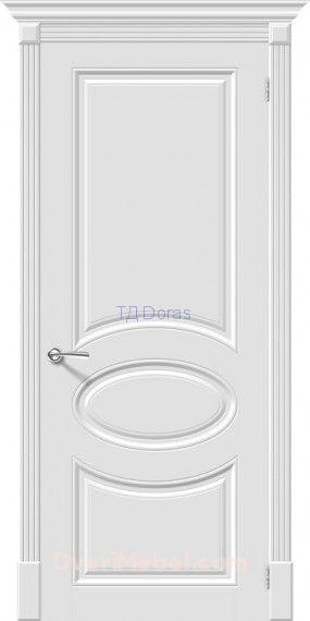 Межкомнатная окрашенная дверь эмаль Скинни-20 Whitey
