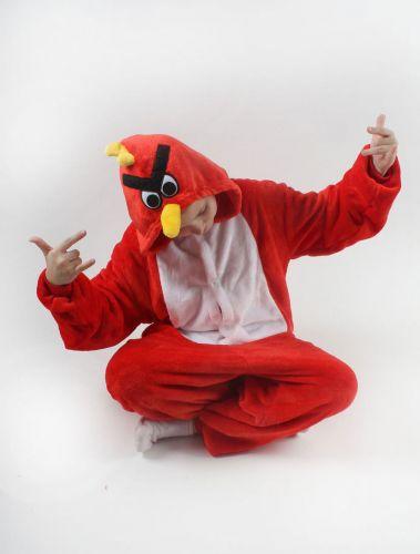 """Кигуруми для детей 6-9 лет """"злая птичка"""" красный"""