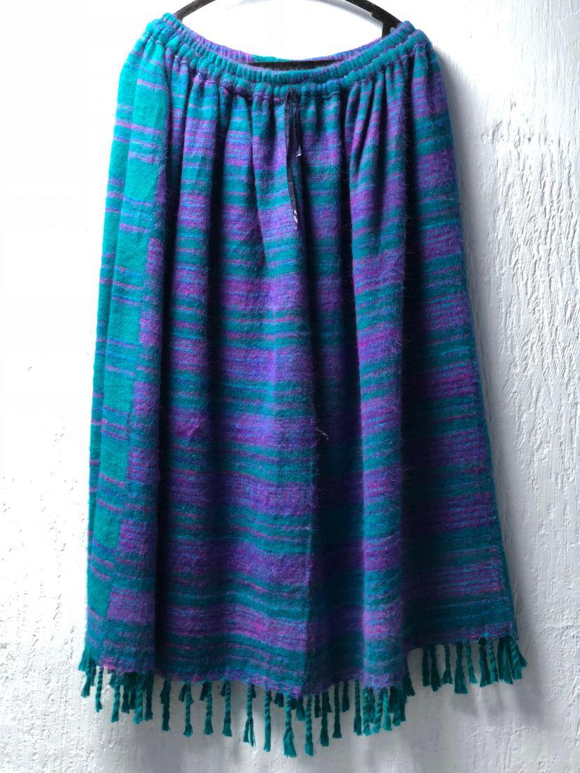 Разные цвета! Тёплые длинные юбки в полоску (Москва)