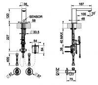 Смеситель для раковины Gessi Sensor Taps 30501