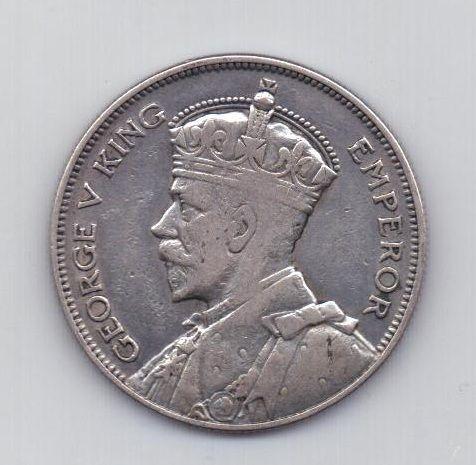 1/2 кроны 1933 года Новая Зеландия Великобритания