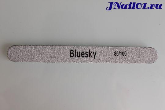 Bluesky, пилка прямая для искусственных ногтей 80/100 грит