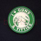 Шеврон ПВХ I love guns & titties