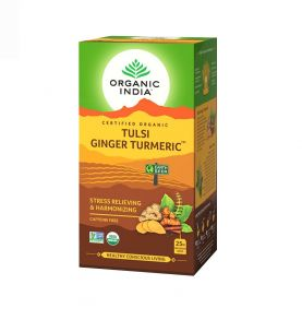 Чай с Тулси, Куркумой и Имбирём , Tulsi Ginger Turmeric Tea,  Organic India