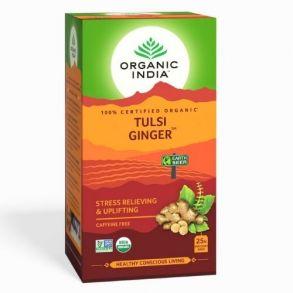 Чай с Тулси и Имбирем (25 пак, 1.9 г), Tulsi Ginger, произв. Organic India