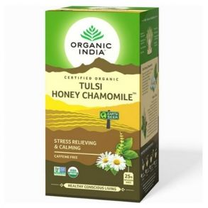 Чай Тулси с мёдом и ромашкой Органик Индия (Tulsi Honey Chamomile Organic India), 25 пак. х 1,9 гр