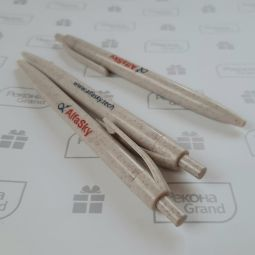 ручки из зерноволокна с логотипом