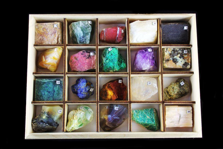 Коллекция минералов и горных пород (20 образцов)