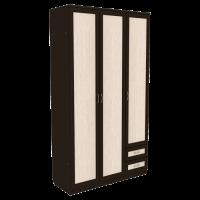 Шкаф для белья со штангой, полками и ящиками арт. 113 (венге)