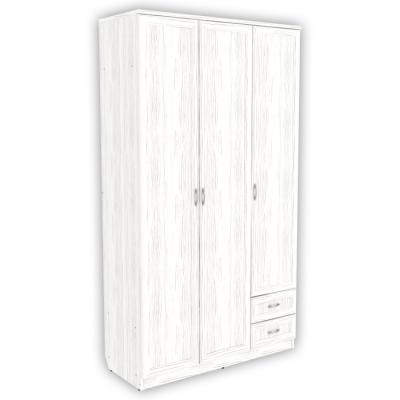 Шкаф для белья со штангой, полками и ящиками арт. 113 (арктика)