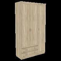 Шкаф для белья со штангой, полками и ящиками арт. 114 (дуб сонома)