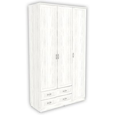 Шкаф для белья со штангой, полками и ящиками арт. 114 (арктика)