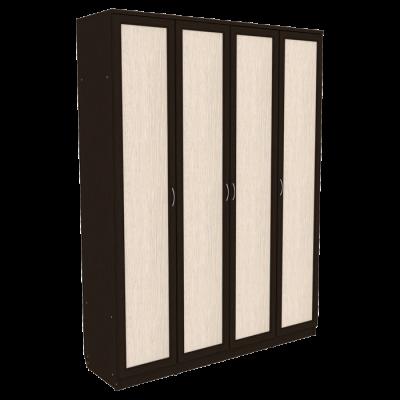 Шкаф для белья со штангой и полками арт. 109 (венге)