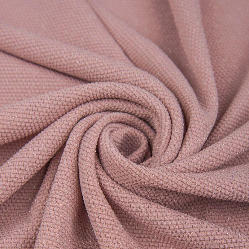 "Трикотаж с люрексом  ""Мельхиор"" - пудрово-розовый 50х37"
