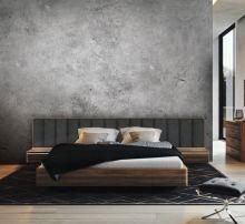 Кровать ORLY ARTE с широким изголовьем 160х200 орех