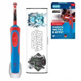 Электрическая зубная щетка Oral-B Stages Power Звездные войны D12.513K + чехол