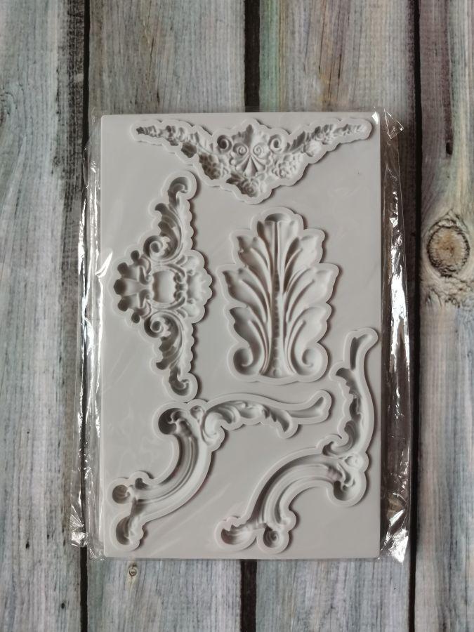 Молд силиконовый, набор декоративных элементов 2
