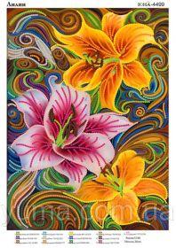 ЮМА ЮМА-4499 Лилии схема для вышивки бисером купить оптом в магазине Золотая Игла - вышивка бисером