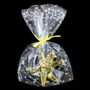"""Пакеты подарочные """"Искры"""", белый на прозрачном, 30*50 см, 100 шт"""