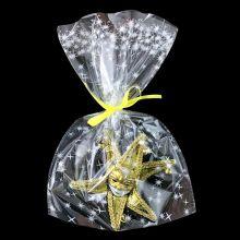 """Пакеты подарочные """"Искры"""", белый на прозрачном, 20*30 см, 100 шт"""