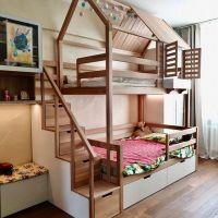 Двухъярусная кровать домик Standard №47
