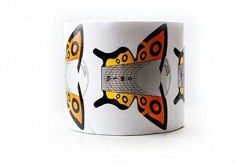 """Форма для моделирования ногтей широкие """"Бабочка"""" оранжевая 300 шт."""