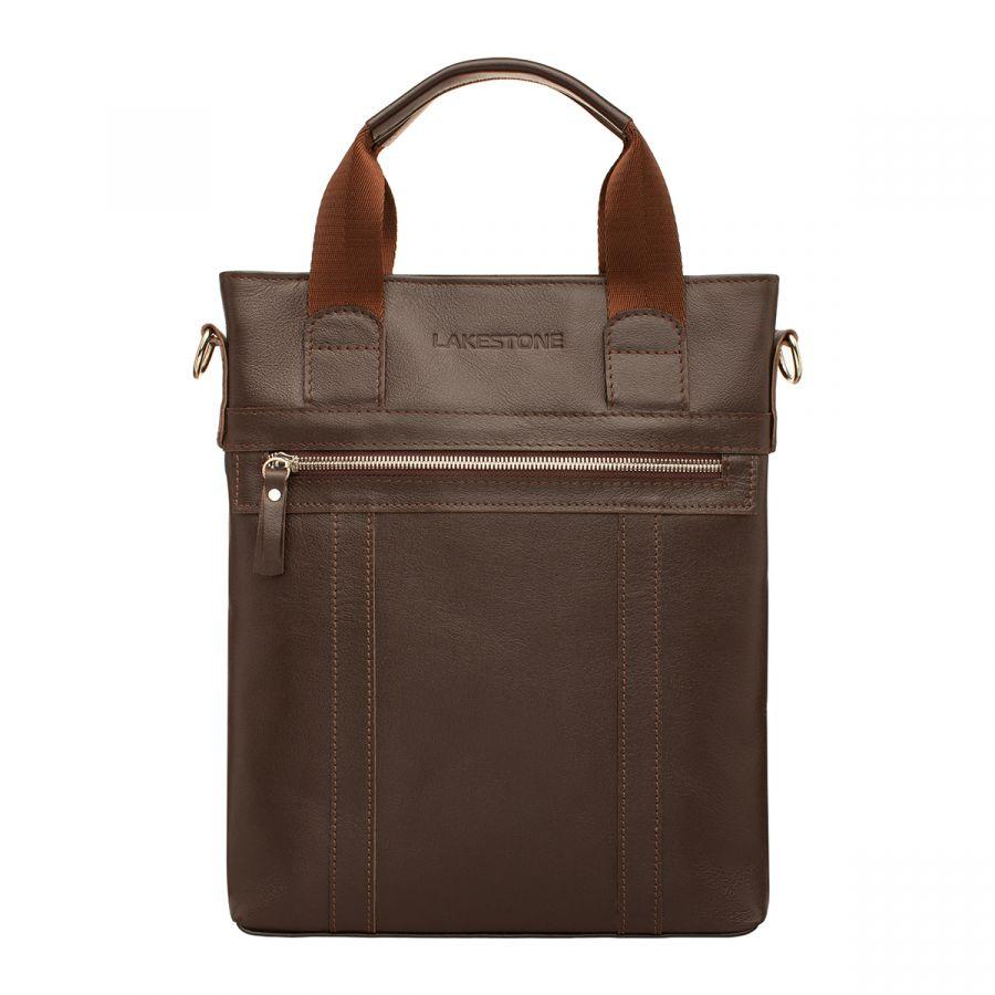 Мужская кожаная сумка Lakestone Orwell Brown