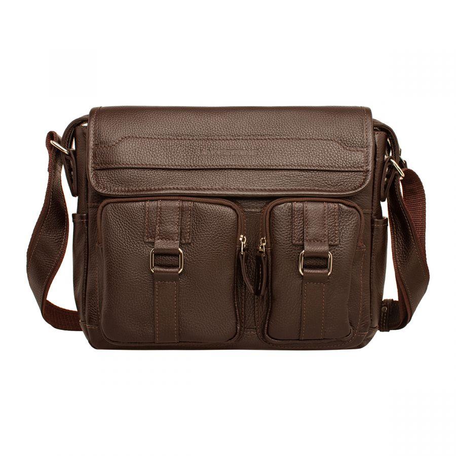 Мужская кожаная сумка Lakestone Uphill Brown
