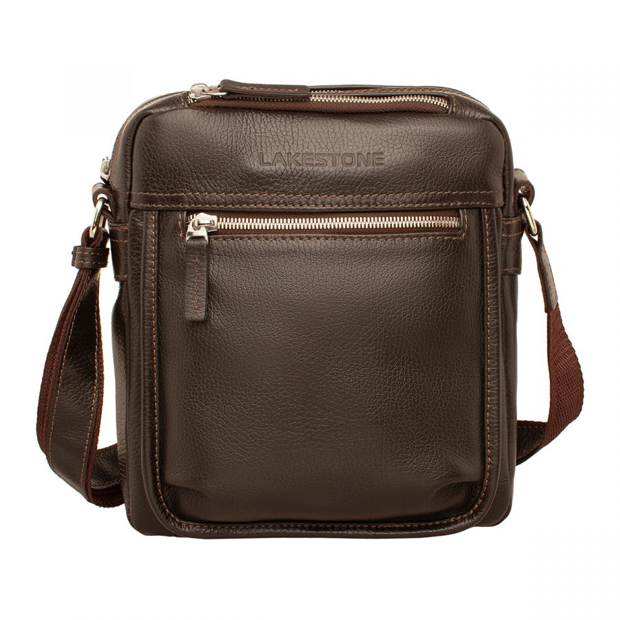 Мужская кожаная сумка Lakestone Webbs Brown