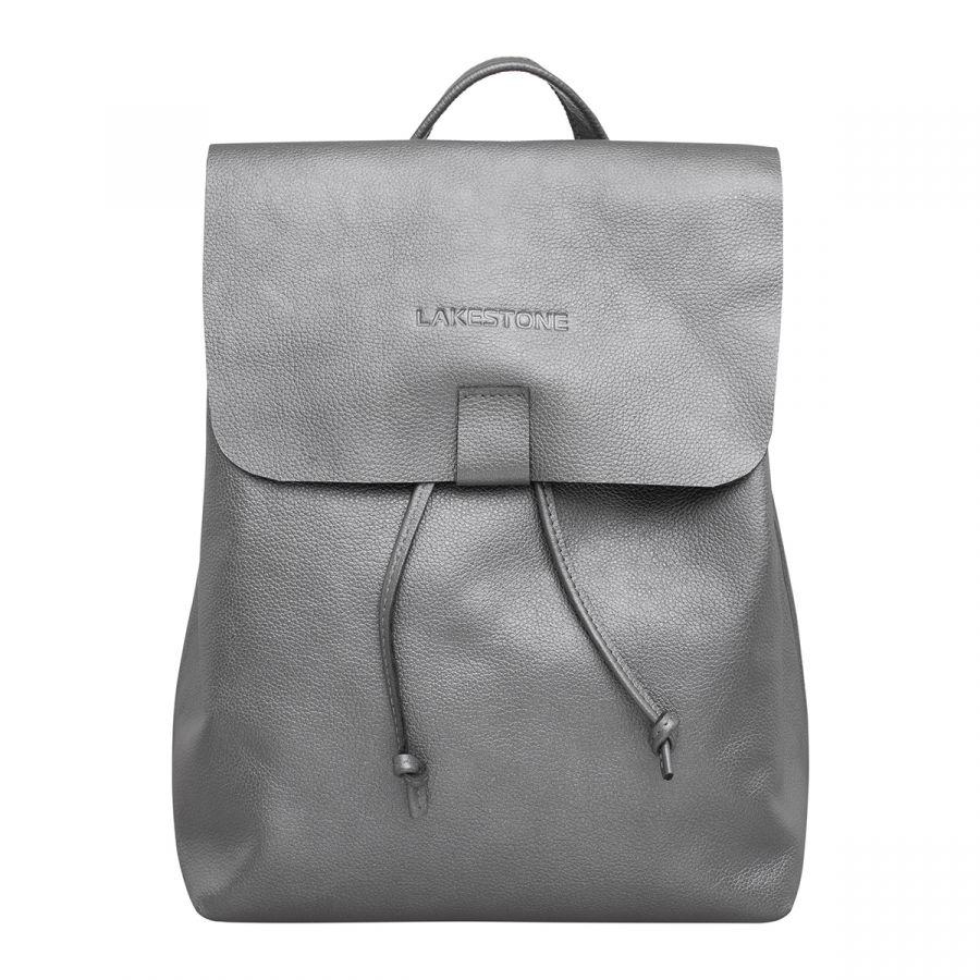 Кожаный рюкзак Lakestone Abbey Silver Grey