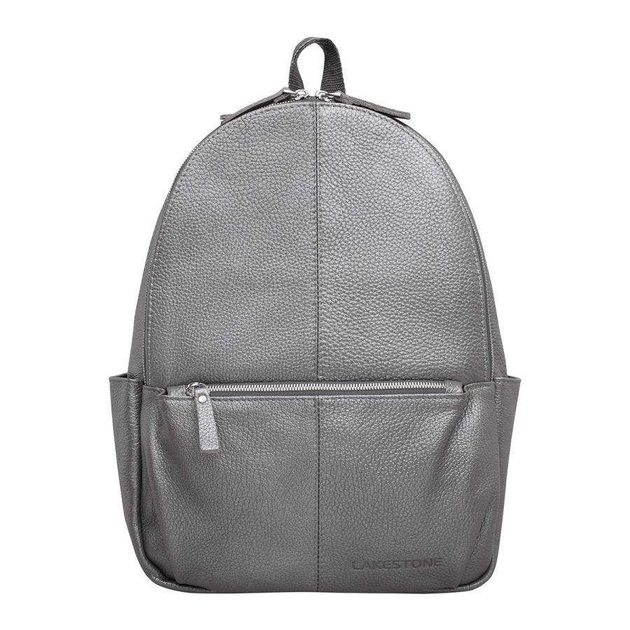 Кожаный рюкзак Lakestone Belfry Silver Grey
