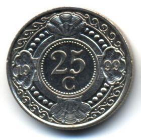 Нидерландские Антилы 25 центов 1999