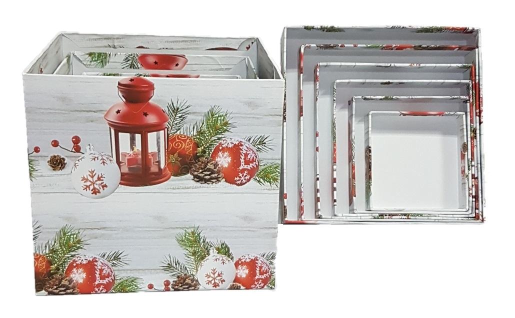 Коробка новогодняя квадратная (Куб)