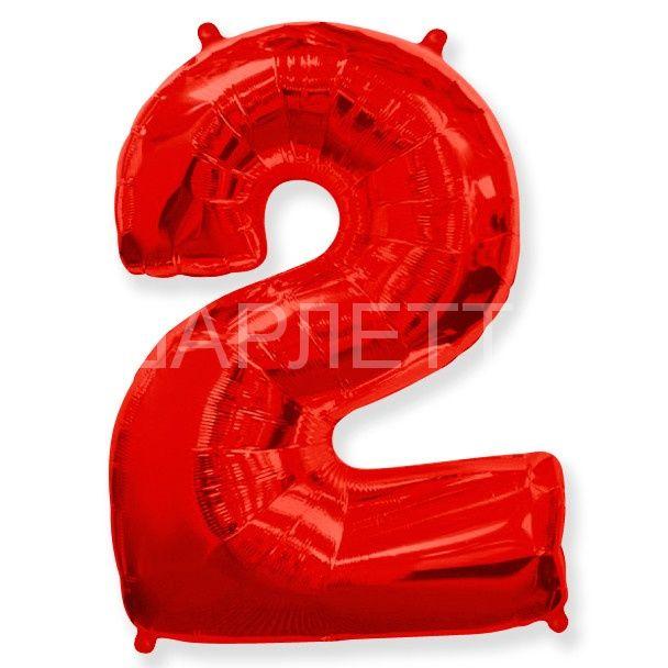 """Цифра """"2"""" красный"""