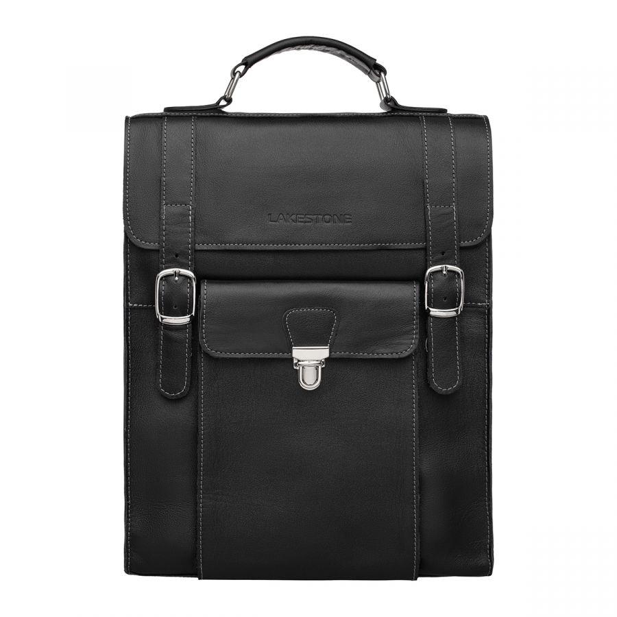 Кожаная сумка-рюкзак Lakestone Oxen Black