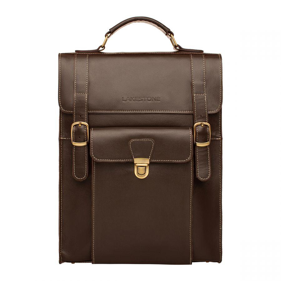 Кожаная сумка-рюкзак Lakestone Oxen Brown
