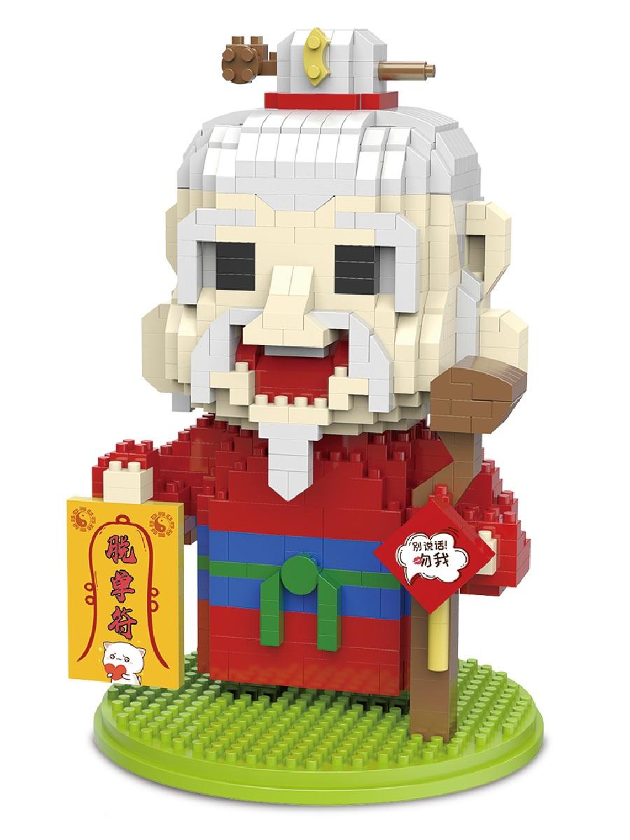 Конструктор Wisehawk & LNO Лунный старец 758 деталей NO. 2608 Moon elder Myths of China Series