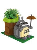Конструктор Wisehawk & LNO Тоторо с растением 776 деталей NO. 2591 Totoro with plant Gift Series