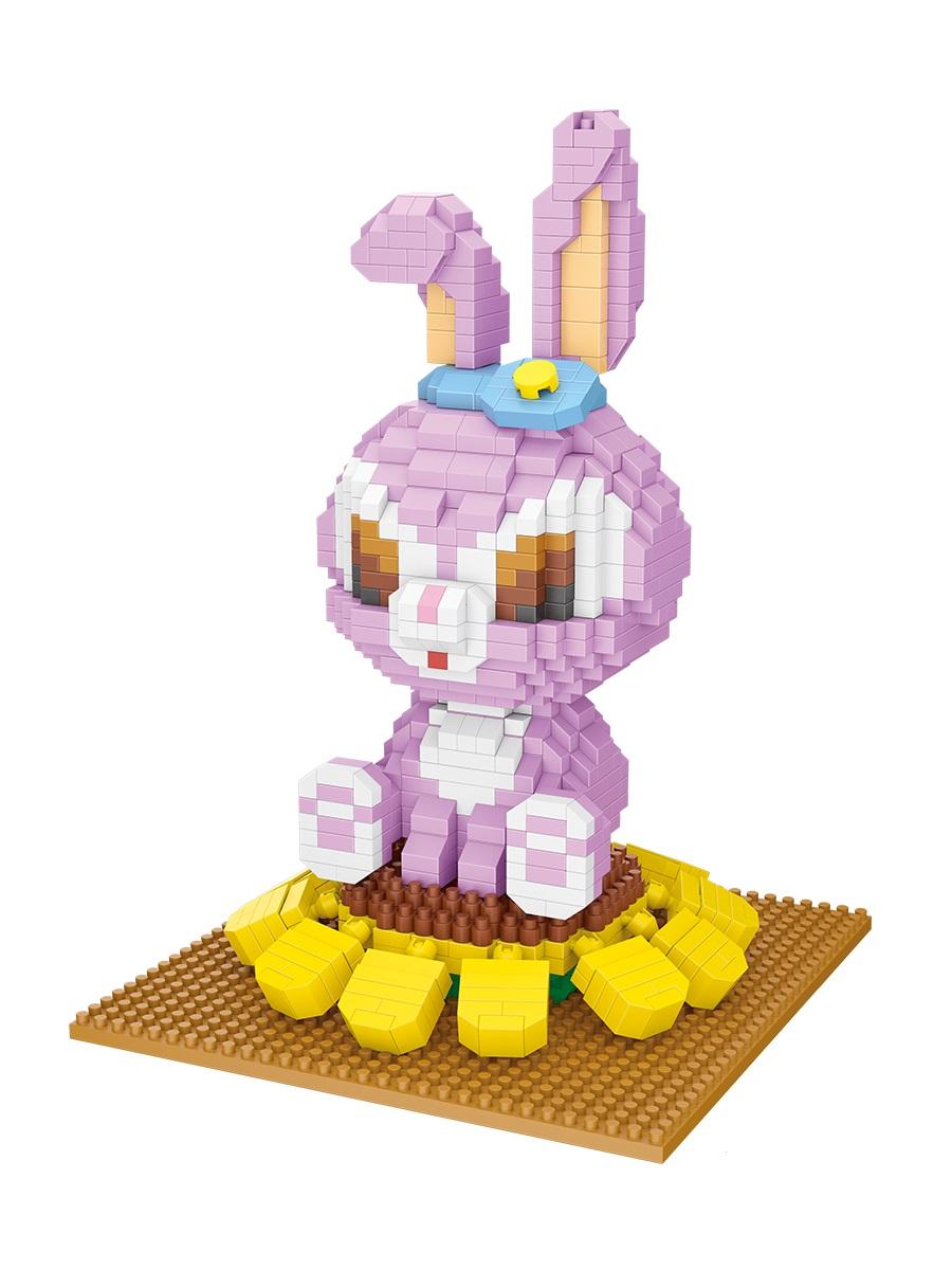 Конструктор Wisehawk & LNO Крольчиха Стелла 1109 деталей NO. 2636 Rabbit Stella Gift Series