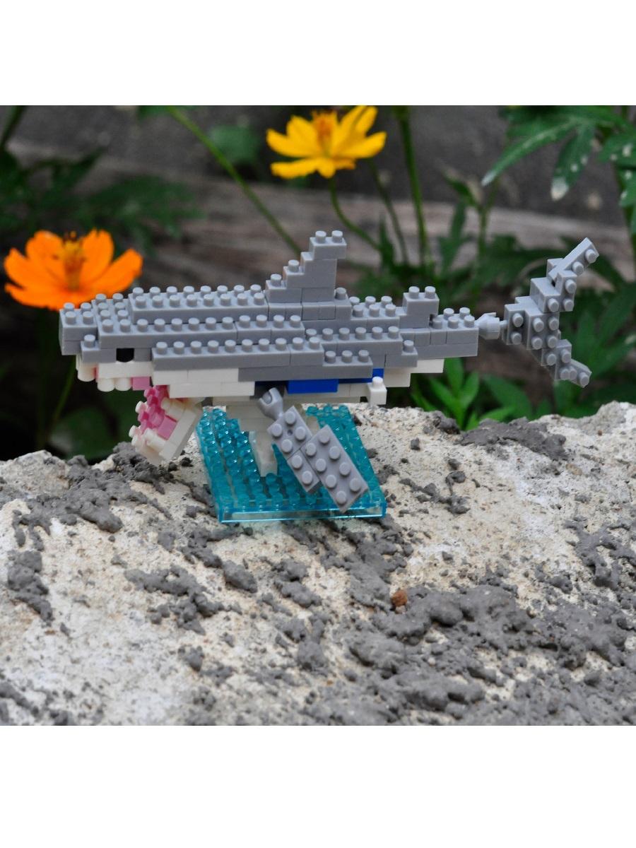 Конструктор Wisehawk & LNO Большая белая акула 122 детали NO. B10 Great white shark Gift Series